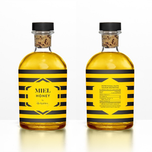 Label for honey bottle
