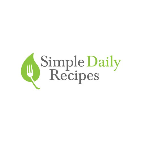 Simple Daily Recipes needs a healthy plant-strong logo