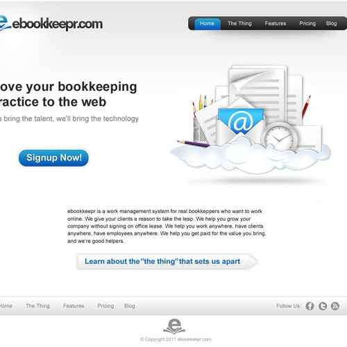 website design for ebookkeepr.com