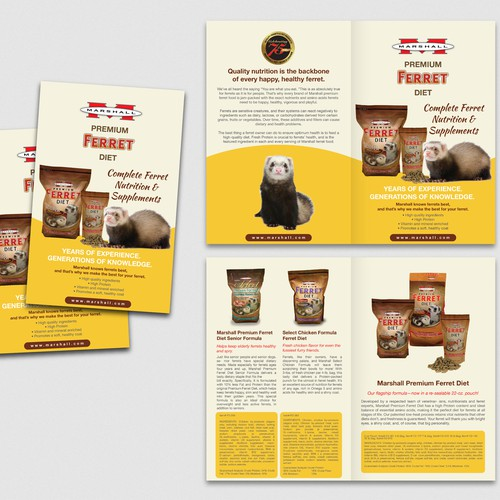 8 Page Ferret Diet Brochure
