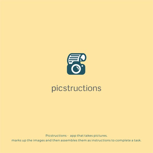"""Logo for """"Picstructions"""""""