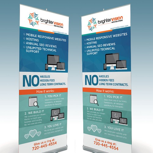 Design a Roll Up Banner for Brighter Vision
