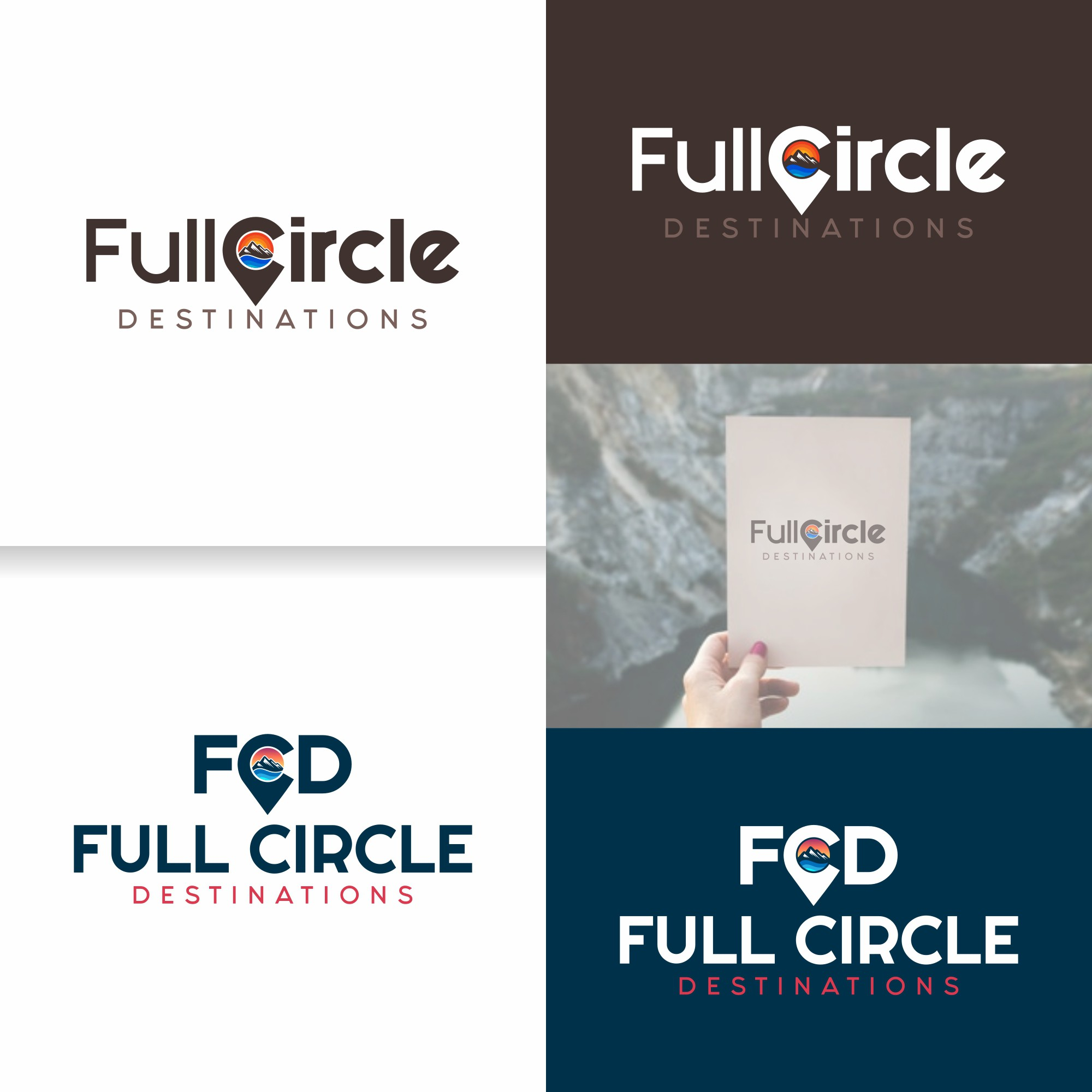 Full Circle Destinations - The next big hospitality company Needs a logo and Brand Package