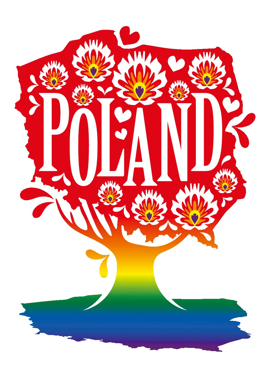 T-shirt design from Poland with rainbow theme