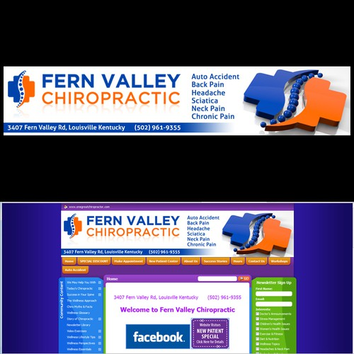 Create the next banner ad for Fern Valley Chiropractic
