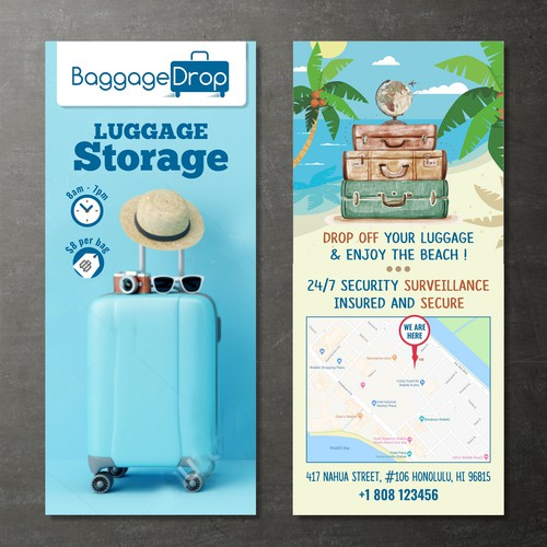Flyer for Luggage Storage Co.