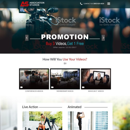 Beautiful Landing Page Needed for Video Production Company