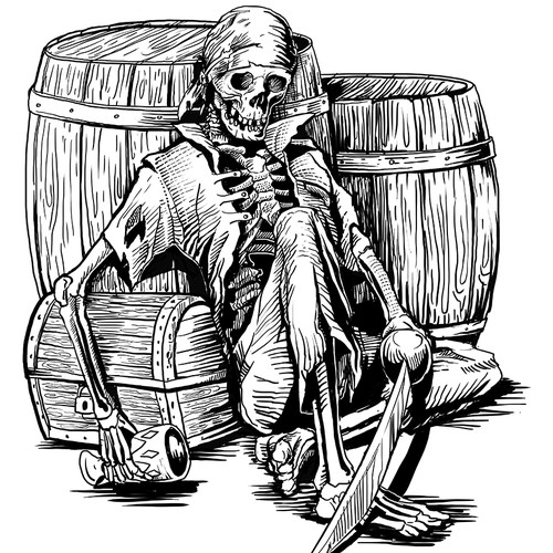 Illustration for Microbrewery Bottle Label