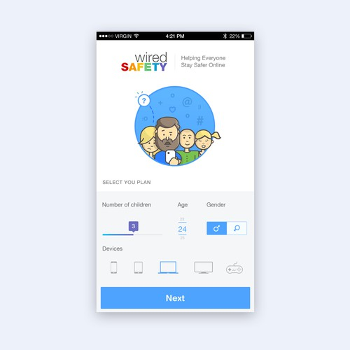 App for parents to create a family digital safety plan