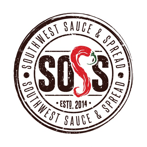 A playful vintage logo for hot sauce