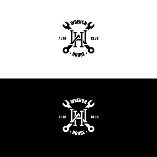 Classy logo for Wrench House Auto Club