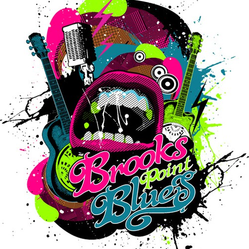 Help Brooks Point Blues with a new t-shirt design