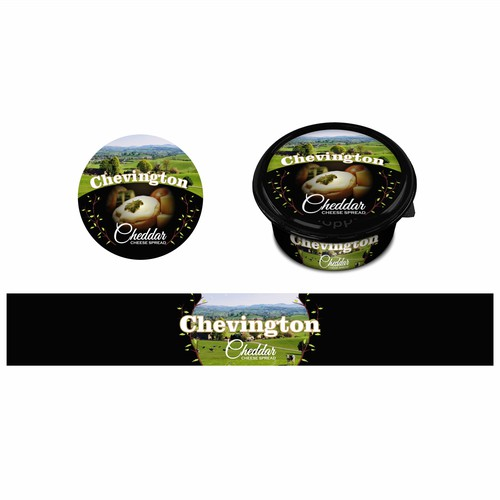 Chevington Cheddar Cheese Label