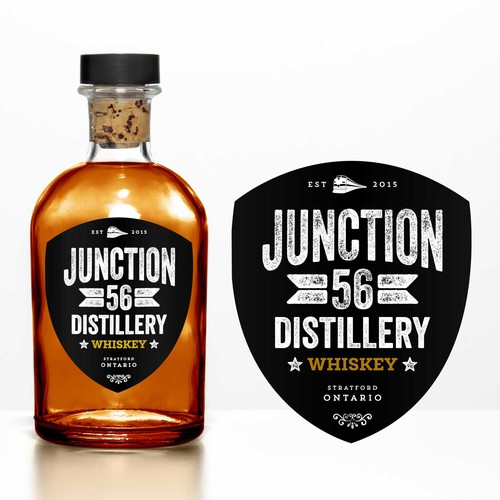 Logo and Label for Junction 56 Distillery