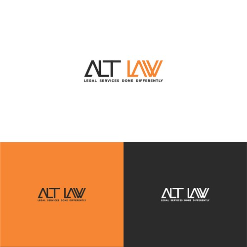 Modern Geometric Font Custom Logo for ALT LAW