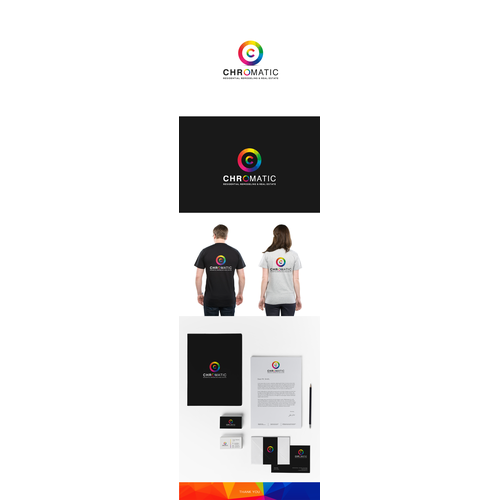 Produce an ultra modern logo that screams creativity and color for Chromatic.