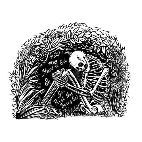 Black & White line art illustration