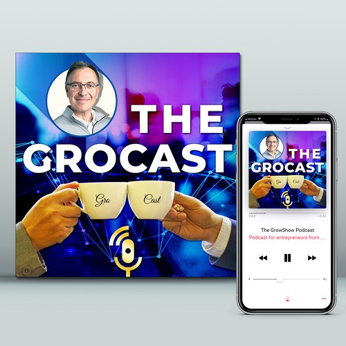 'The GroCast' Podcast Cover Design