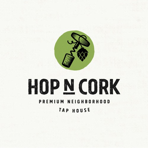 Bold logo for a tap house
