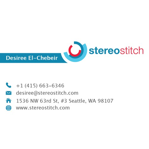 Stereostitch business cards