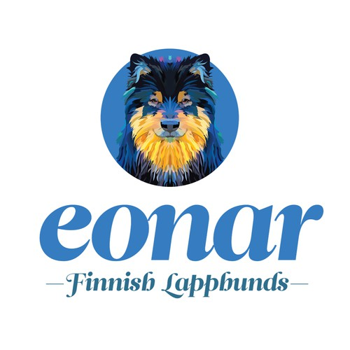 Logo for a breeder of Finnish Lapphunds