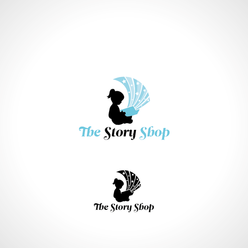 Classic and whimsical logo for a children's bookstore