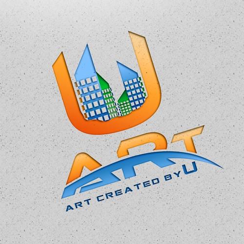 Maak het volgende logo voor U-Art  design