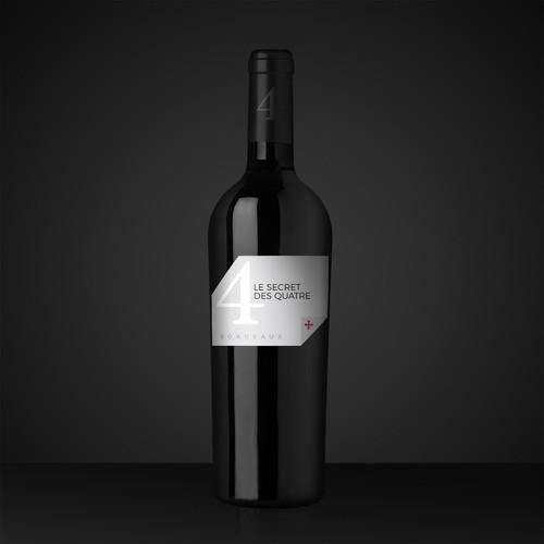 Bordeaux wine label design