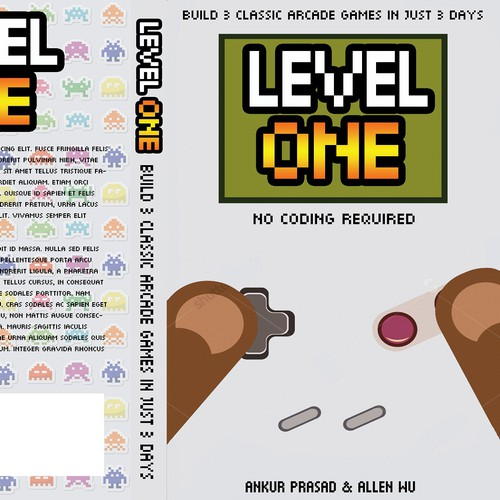 Catchy book cover design for video game making book