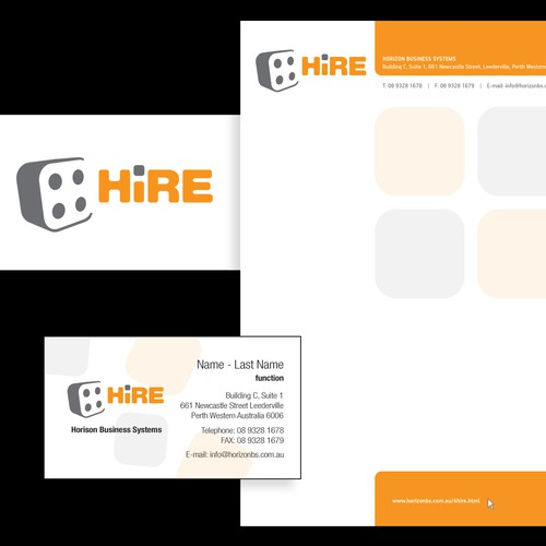 4Hire logo and stationary