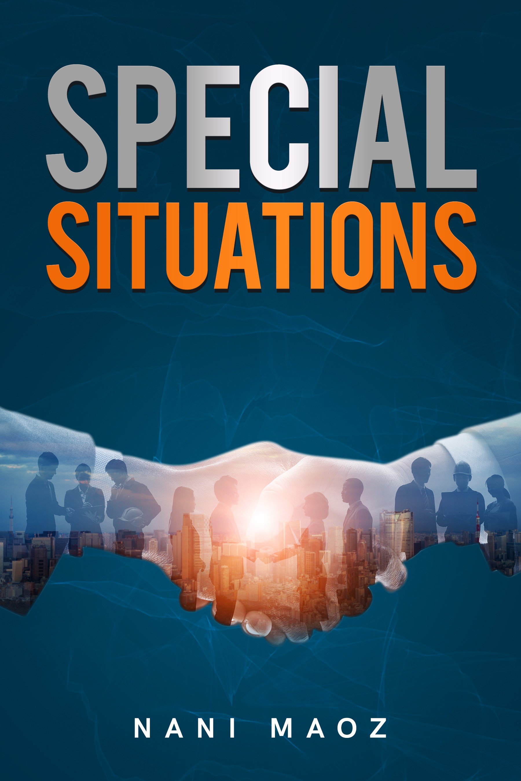 Dramatic book cover for a book about inside stories on distressed companies in U.S and Europe