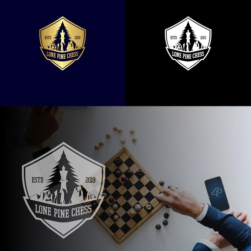 Luxury logo concept for Lone Pine Chess