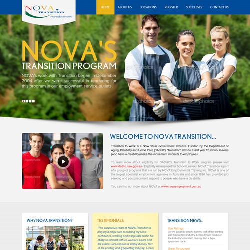 Help Nova Employment with a new website design