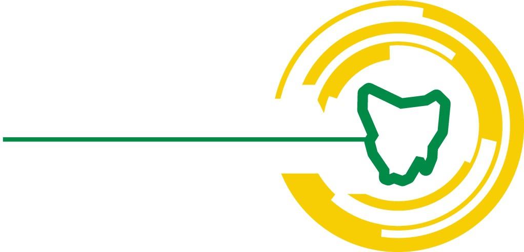 Create a simple but powerful logo for the Tasmanian Laser Tag Association (TLTA)!