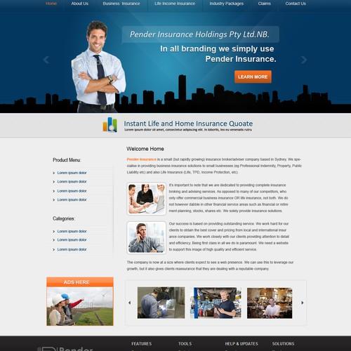 Pender Insurance needs a new website design