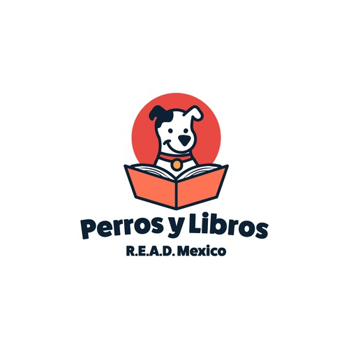 Bold logotype for the Perros y Libros