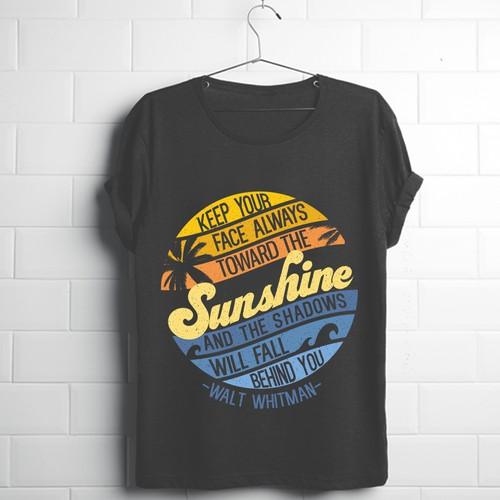 Surf 70s T- shirt Design