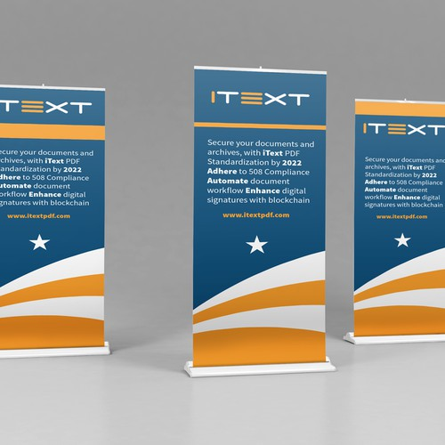 Roll up banner for Itext