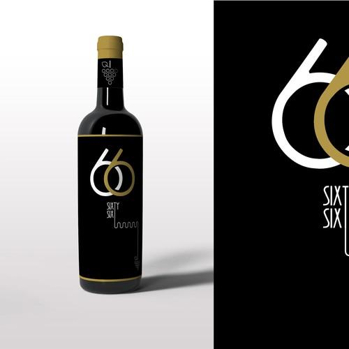 66 Wine - bottle design