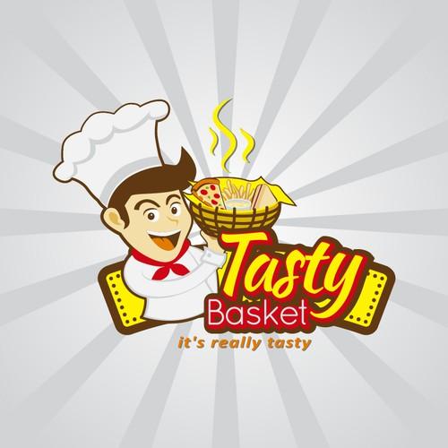 Illustration logo for tasty basket