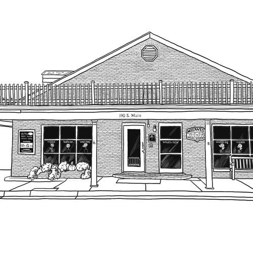 A sketch of a building