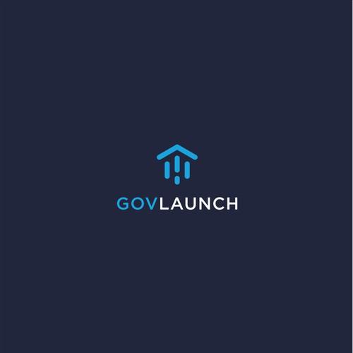 Flat Minimal Logo Design for Government Tech Network