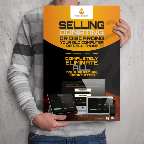 In Stores Retail Poster for Software Product