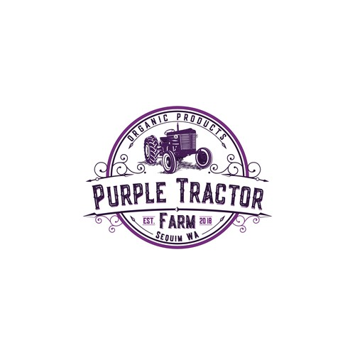 Logo for a small farm producing organic food