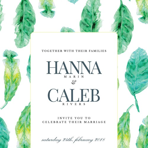Fresh Wedding Invitation Concept