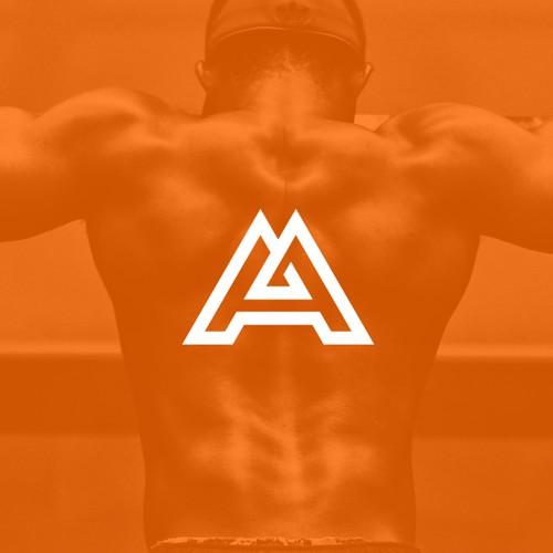 stunning monogram AA logo