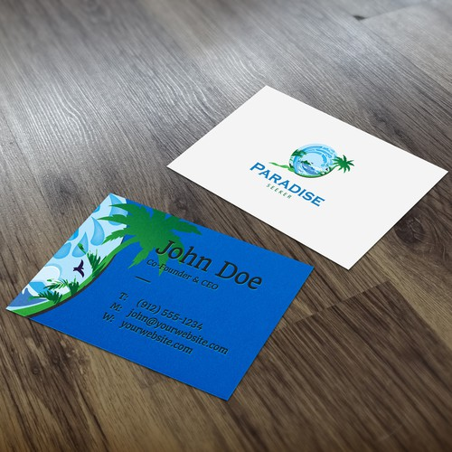 Create the Paradise Seeker logo