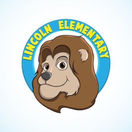 Lion mascot for elementary school