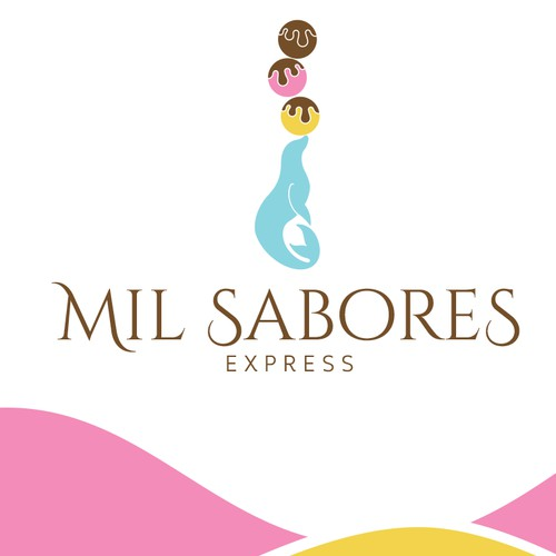 Logo for an ice cream shop