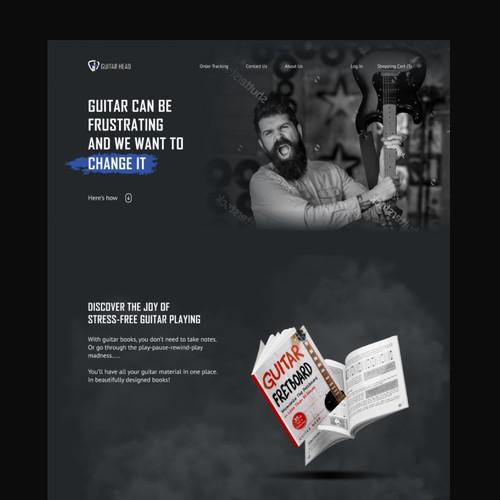 Guitar books e-commerce website